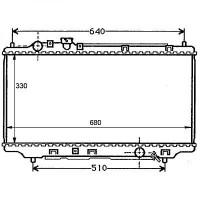 Radiateur, refroidissement du moteur 325 x 670 pour boite manuelle de 94 à 98 - OEM : ZL0515200