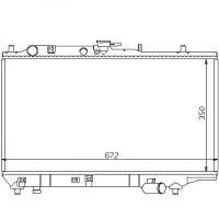 Radiateur, refroidissement du moteur 350 x 672 pour boite manuelle de 89 à 94 - OEM : BP2815200D