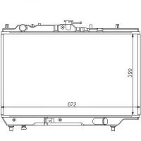 Radiateur, refroidissement du moteur 388 x 563 x 16 pour boite manuelle de 89 à 98 - OEM : B61S15200B