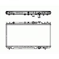 Radiateur, refroidissement du moteur 350 x 740 de 98 à >> - OEM : RF2A15200