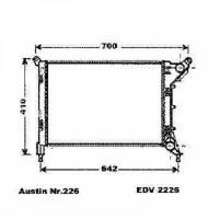 Radiateur, refroidissement du moteur 540 x 357 de 01 à 06 - OEM : 7535902