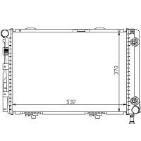 Radiateur, refroidissement du moteur 532 x 370 pour boite manuelle de 84 à >> - OEM : A1245004903