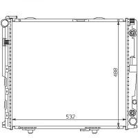 Radiateur, refroidissement du moteur 532 x 490 de 93 à 95 - OEM : A1245007803