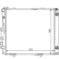 Radiateur, refroidissement du moteur 532 x 488 de 85 à 95 - OEM : A1245009003