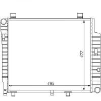 Radiateur, refroidissement du moteur 495 x 425 pour boite manuelle de 93 à >> - OEM : A2025003403