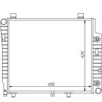 Radiateur, refroidissement du moteur 495 x 425 boite auto de 93 à >> - OEM : A2025003503