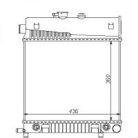 Radiateur, refroidissement du moteur 360 x 436 pour modèles sans clim de 93 à >> - OEM : A2025006103