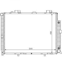 Radiateur, refroidissement du moteur 640 x 490 de 95 à 99 - OEM : A2105002203