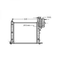Radiateur, refroidissement du moteur boite manuelle modèle avec clim de 96 à >> - OEM : 6385012701