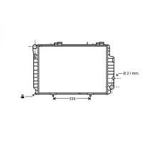 Radiateur, refroidissement du moteur 615 x 420 de 97 à >> - OEM : A2025006403