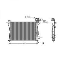 Radiateur, refroidissement du moteur 400 x 375 pour boite manuelle de 97 à >> - OEM : A1685000002