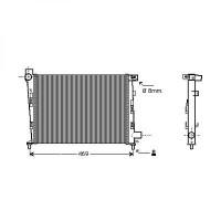 Radiateur, refroidissement du moteur 400 x 375 pour boite manuelle de 97 à >> - OEM : A1685002002
