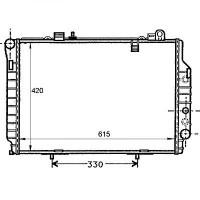Radiateur, refroidissement du moteur 615 x 420 de 95 à 00 - OEM : A2025005603