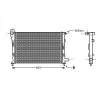 Radiateur, refroidissement du moteur 600 x 375 pour boite manuelle de 97 à 04 - OEM : 1685001602