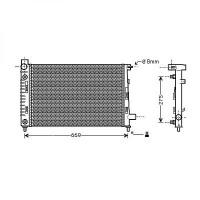 Radiateur, refroidissement du moteur 600 x 375 boite auto de 97 à 04 - OEM : 1685001602