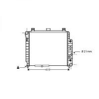 Radiateur, refroidissement du moteur 360 x 434 de 96 à 99 - OEM : A1705000402
