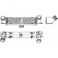 Intercooler, échangeur de 04 à >> - OEM : 7524916