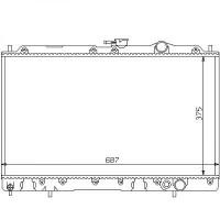 Radiateur, refroidissement du moteur 375 x 670 pour boite manuelle de 88 à 93 - OEM : MB356527