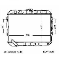 Radiateur, refroidissement du moteur 425 x 600 de 88 à 91 - OEM : MB660076