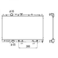 Radiateur, refroidissement du moteur 375 x 660 de 96 à 02 - OEM : MR187964