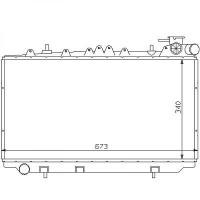 Radiateur, refroidissement du moteur 340 x 673 pour boite manuelle de 90 à 96 - OEM : 2141072J20