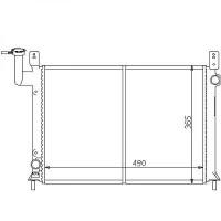 Radiateur, refroidissement du moteur 490 x 365 pour boite manuelle de 88 à 90 - OEM : 2141077A00