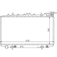 Radiateur, refroidissement du moteur 340 x 647 boite auto de 90 à 96 - OEM : 2146072J00