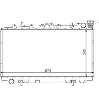 Radiateur, refroidissement du moteur 340 x 673 x 25 pour boite manuelle de 90 à 96 - OEM : 2146064J00