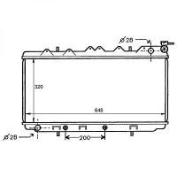 Radiateur, refroidissement du moteur 325 x 650 boite auto de 90 à 95