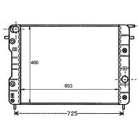 Radiateur, refroidissement du moteur 653 x 460 pour boite manuelle de 94 à 99 - OEM : 52463046