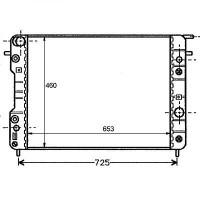 Radiateur, refroidissement du moteur 653 x 460 boite auto de 94 à >> - OEM : 6302006