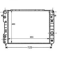 Radiateur, refroidissement du moteur 653 x 460 boite auto de 94 à 99 - OEM : 52463054