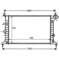 Radiateur, refroidissement du moteur 540 x 378 x 23 [mm] de 95 à >>