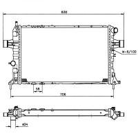 Radiateur, refroidissement du moteur 600 x 368 x 42 pour boite manuelle de 98 à 05 - OEM : 9202501