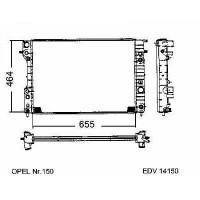 Radiateur, refroidissement du moteur 653 x 460 de 94 à 99