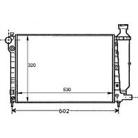 Radiateur, refroidissement du moteur 530 x 320 pour boite manuelle de 91 à 96 - OEM : 1301V8