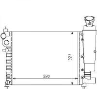 Radiateur, refroidissement du moteur 390 x 321 pour boite manuelle de 91 à 96 - OEM : 1301C6