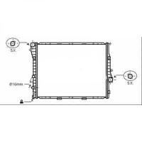 Radiateur, refroidissement du moteur 590 x 597 x 40 pour boite auto de 03 à >> - OEM : 7544668