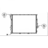 Radiateur, refroidissement du moteur 590 x 597 x 40 pour boite manuelle de 03 à >> - OEM : 17111439102