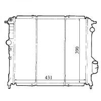 Radiateur, refroidissement du moteur 431 x 390 de 91 à 97 - OEM : 6006000711