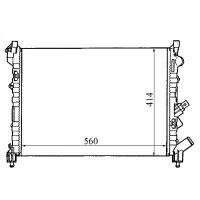 Radiateur, refroidissement du moteur 560 x 414 de 94 à 01 - OEM : 7701038237