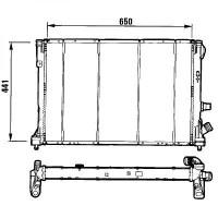 Radiateur, refroidissement du moteur 650 x 441 pour boite manuelle de 94 à 98 - OEM : 7701040662