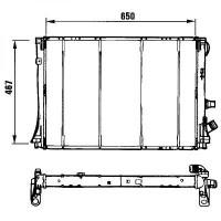 Radiateur, refroidissement du moteur 650 x 467 pour boite manuelle de 94 à 99 - OEM : 7701041957