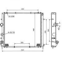 Radiateur, refroidissement du moteur 479 x 442 pour boite manuelle de 98 à >> - OEM : 8200747214