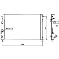 Radiateur, refroidissement du moteur 585 x 414 de 98 à >> - OEM : 7700425842