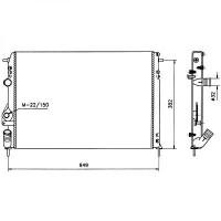 Radiateur, refroidissement du moteur avec climatisation de 98 à >> - OEM : 7701499953