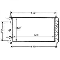 Radiateur, refroidissement du moteur 590 x 322 pour boite manuelle de 94 à >> - OEM : 7601412