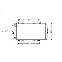 Radiateur, refroidissement du moteur 590 x 285 pour boite manuelle de 94 à >> - OEM : 6U0121253