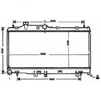 Radiateur, refroidissement du moteur 340 x 686 pour boite manuelle de 98 à 04