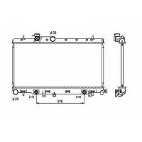 Radiateur, refroidissement du moteur 340 x 686 pour boite auto de 99 à 04 - OEM : 45111FE051
